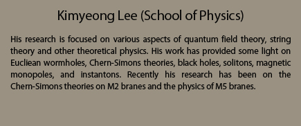 Kimyeong Lee (School of Physics)