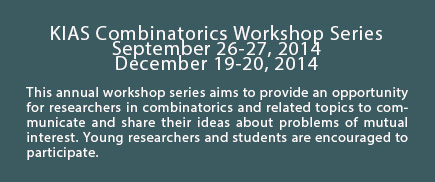 KIAS Combinatorics Workshop Series