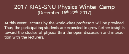 KIAS-SNU Physics Winter Camp 2017 물리 겨울캠프