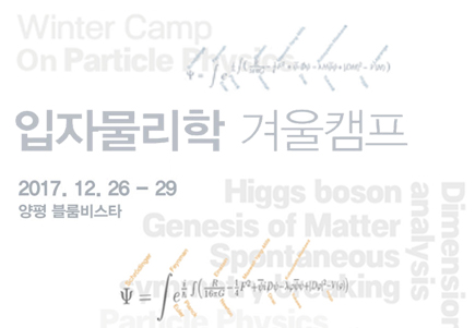 입자물리학 겨울캠프 / Winter Camp on Particle Physics